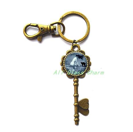 Amazon.com: Hermosa Clave Llavero, Halloween clave llavero ...