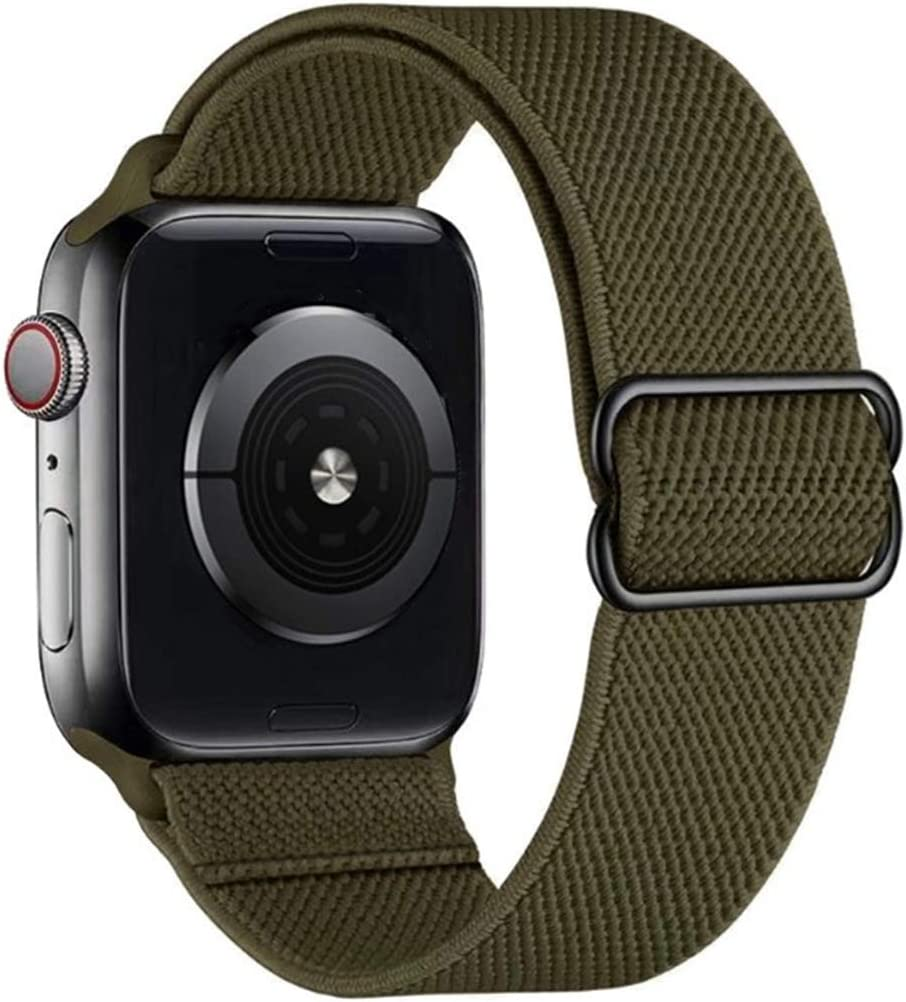IWINTP Stretchy Loop Band Compatible with for Apple Watch Bands 38mm 40mm 42mm 44mm, Soft Adjustable Elastic Strap Compatible for iWatch Series 6 5 4 3 2 1 SE
