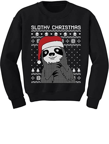 Christmas Sweaters Cute.Tstars Slothy Christmas Ugly Christmas Sweater Cute Sloth Toddler Kids Sweatshirts