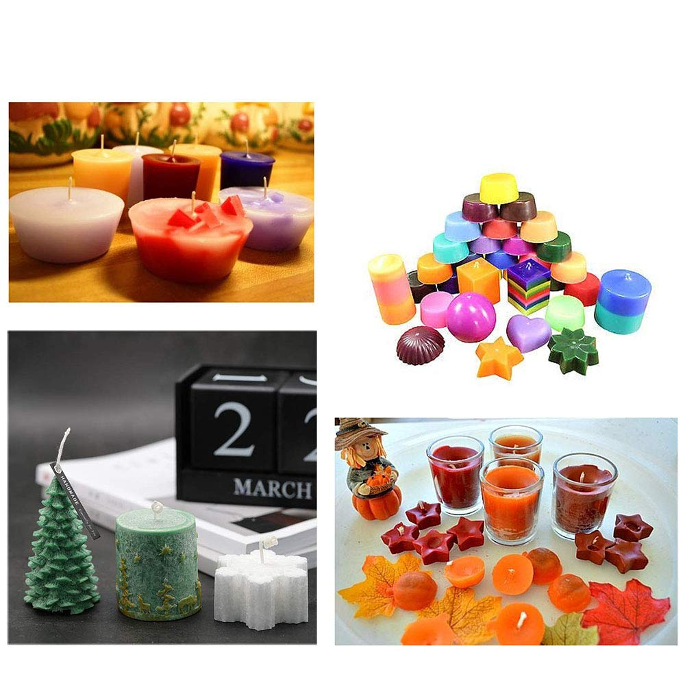Gift2U DIY Wax Dye 24 Colors Candle Dye,Dye Flakes for Candle Make Supplies Kit Crafts Soy Wax Candle Dye Making Scented Candles