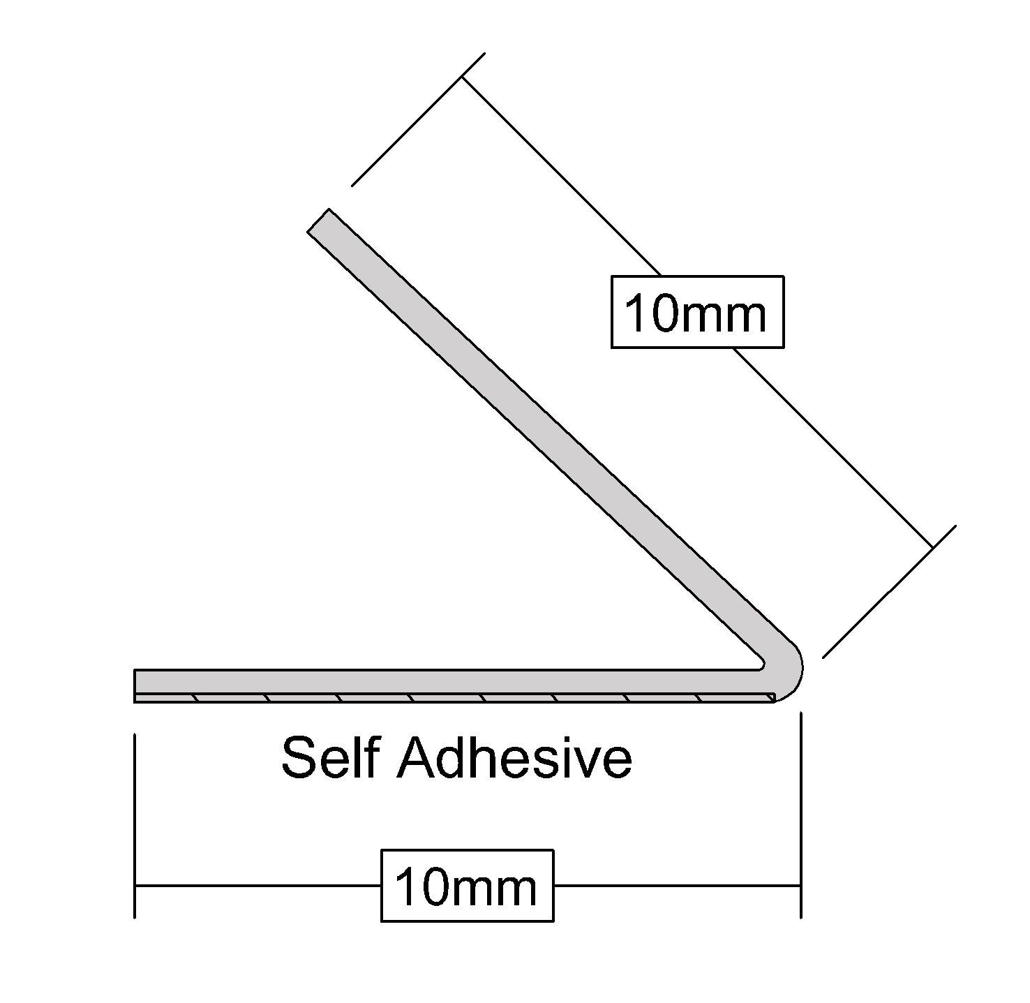 Burlete adhesivo con contorno en V 5 m Stormguard