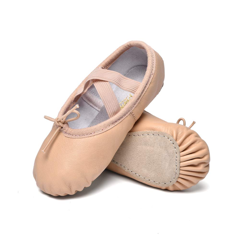 STELLE Girls Premium Leather Ballet Shoes Slippers for Kids Toddler SG180036