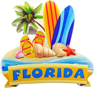 Florida Magnet Surf and Sun Sunshine State Souvenir Decoration
