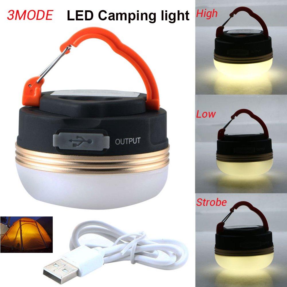 LED Camping-Licht und Laternen, Ultra Bright Zelt Licht mit Power Bank Funktion, USB aufladbare, integrierte Magnete und tragbare Taschenlampe mit 3Modi für Wandern, Bergsteigen, Radfahren und Notfälle von INNOLUX ACE