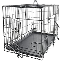 Collapsible Metal 20-inch Pet Crate w/Removable Tray Deals