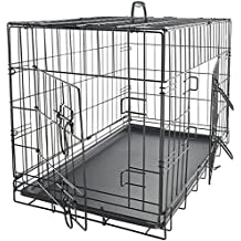 "Paws & Pals 42"" XXL Dog Crate, Double-Doors Folding Metal w/Divider & Tray 42"" x 27"" x 30"" 2016 Newly Designed Model"