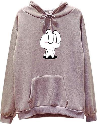 WINJIN Femme Sweatshirt Fille Pull Sweatshirt Sweat à