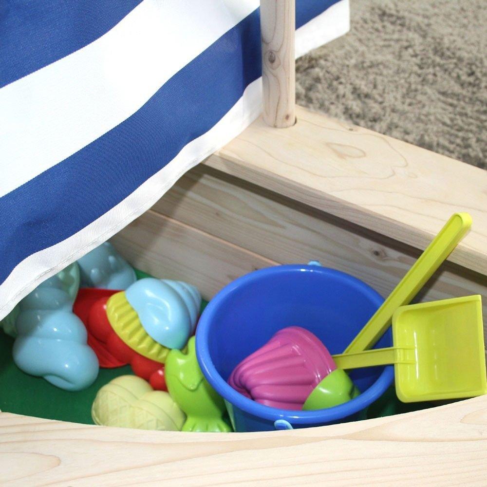 Sandkasten Bootsform natur