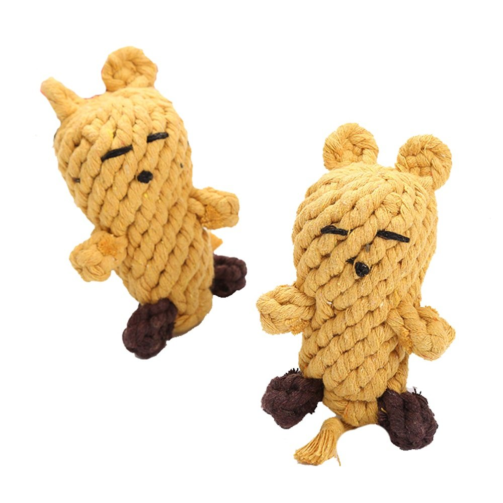 Dog Toys Pet Cotton Woven Chew Rope Toy for Puppy Small Dog (2pack) 18  6CM