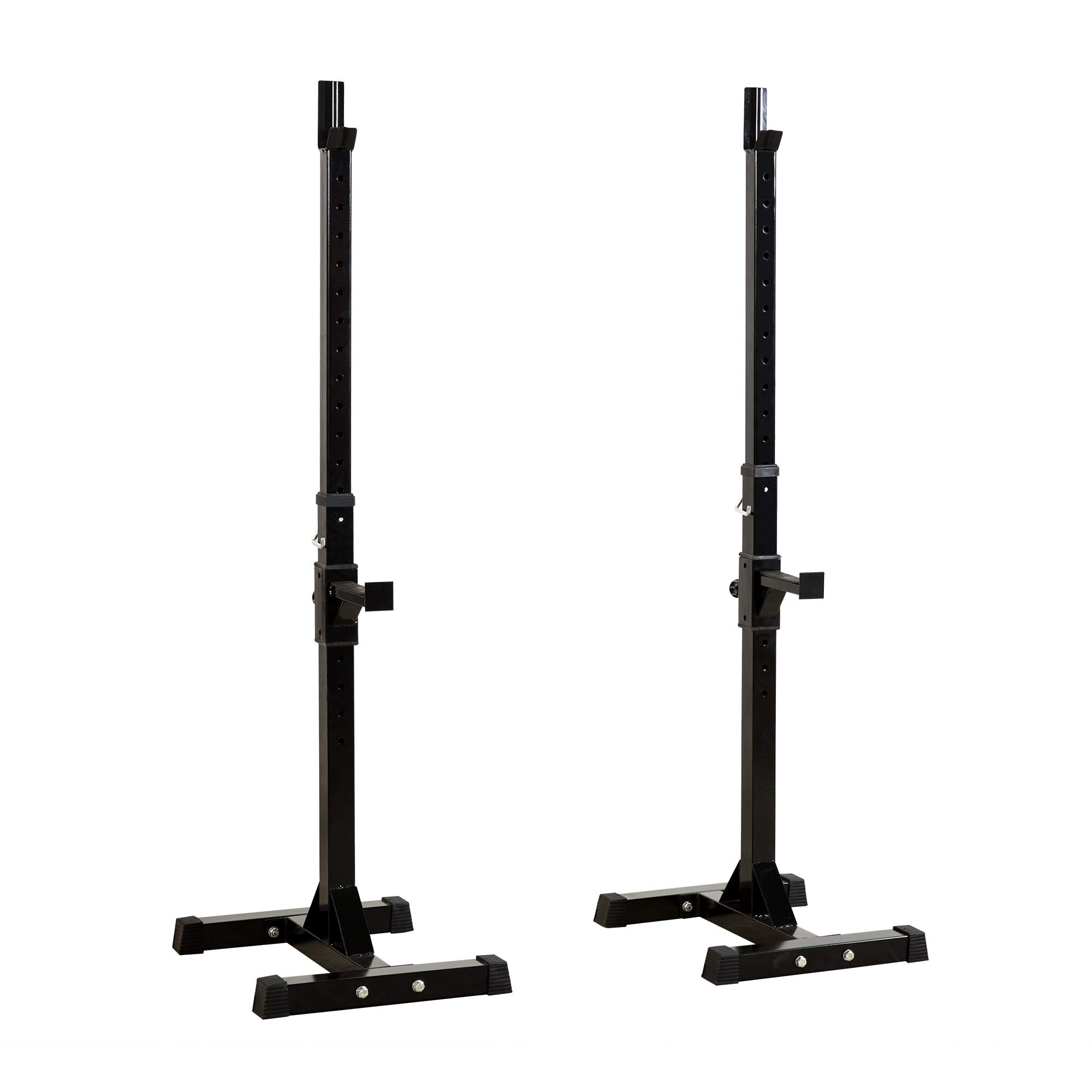 Homevibes Pair Dumbbell Rack Barbell Rack Adjustable Standard Solid Sturdy Steel Squat Stands Free Press Bench Portable Rack Home Gym Exercise Fitness Workout Training, 450lbs Capacity