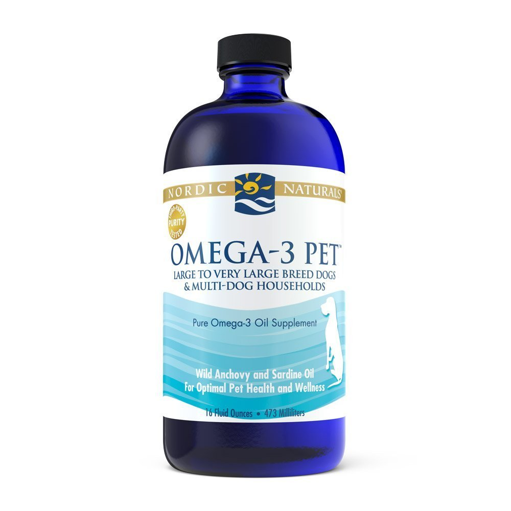 Nordic Naturals Omega-3 Pet Oil Supplement, Promotes Optimal Pet Health and Wellness, for Large to Very Large Breed Dogs and Multi-Dog , 16 oz - Standard Packaging by Nordic Naturals