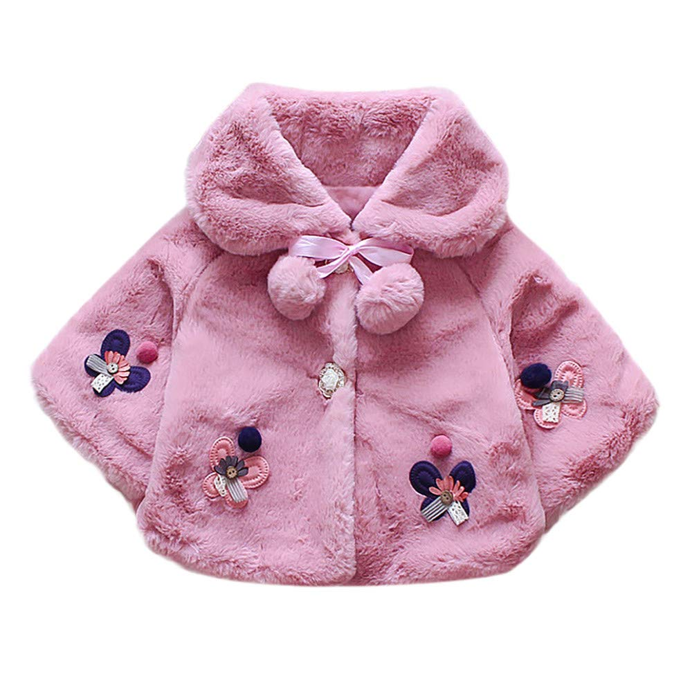 Longra® Clearance Baby Coat, Autumn Winter Coat Cloak Jacket Thick Girl Princess Fluffy Warm Clothes for 1-4 Years