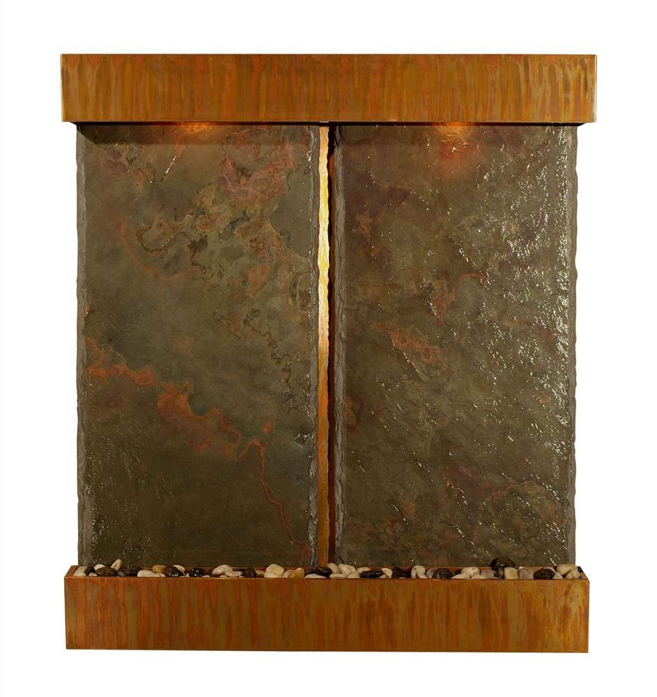 Nojoqui Falls Lightweight Double Panel Wall Fountain (Brushed Stainless Steel)