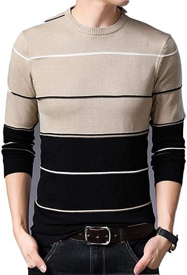 WANG Sweater Hombres Ropa Suéteres para Hombre Camisa Casual de Color Puro Jersey de Lana de otoño Hombres O Cuello Pull Homme Jerseys: Amazon.es: Ropa y accesorios