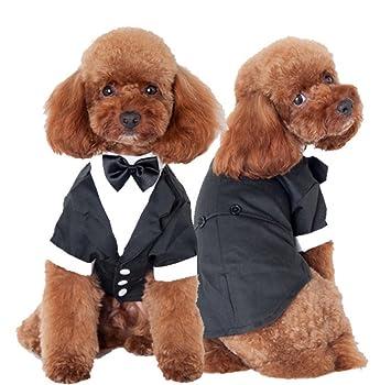 38031d47eb84f S-BBG 千鳥格のタキシード  犬服   結婚式 犬
