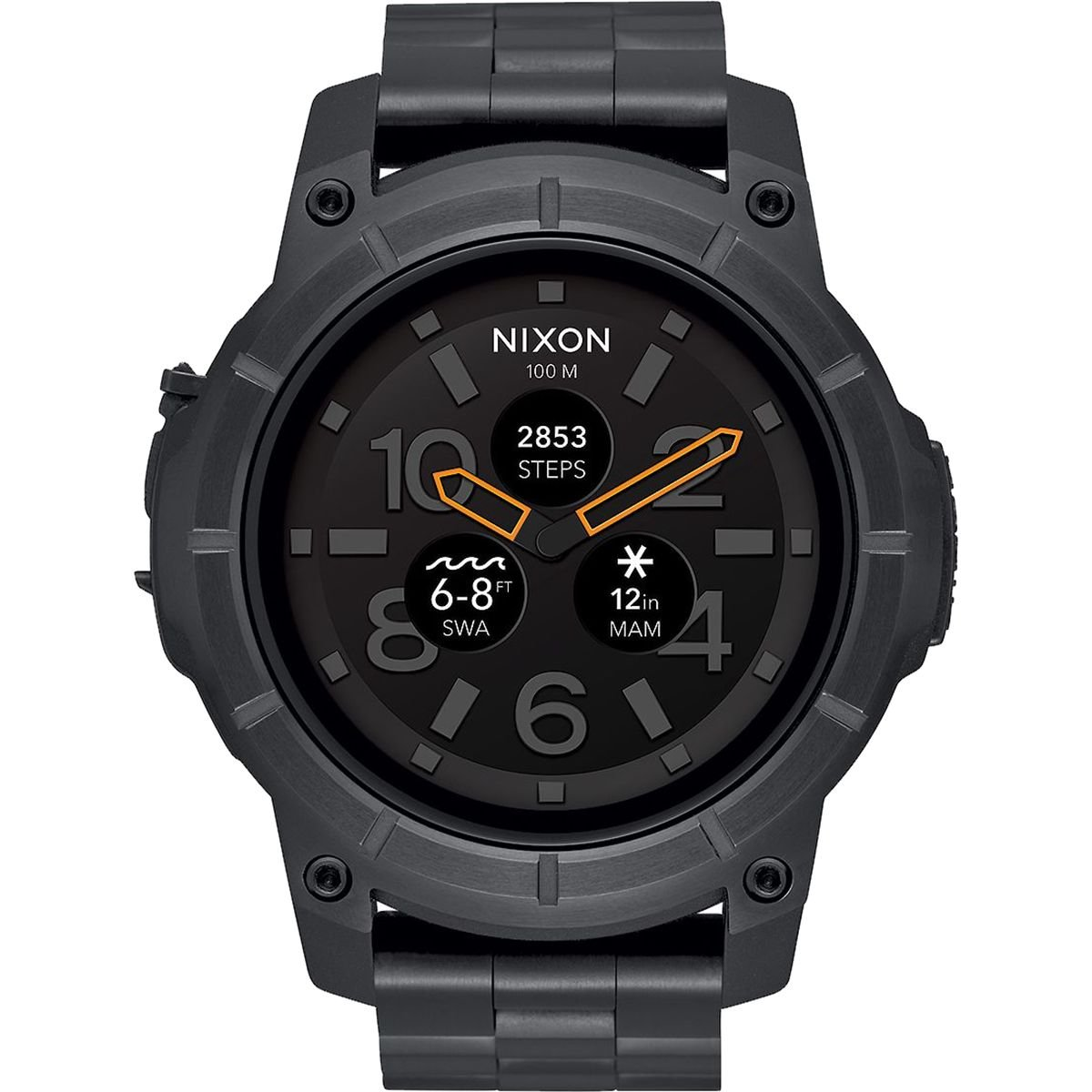 Nixon A1216-000 Mission SS Mens Watch Black 48mm Custom Injection Molded Fiber Reinforced...