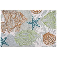 C&F Home Hooked Reef Point Coastal Parfait Rug, Green