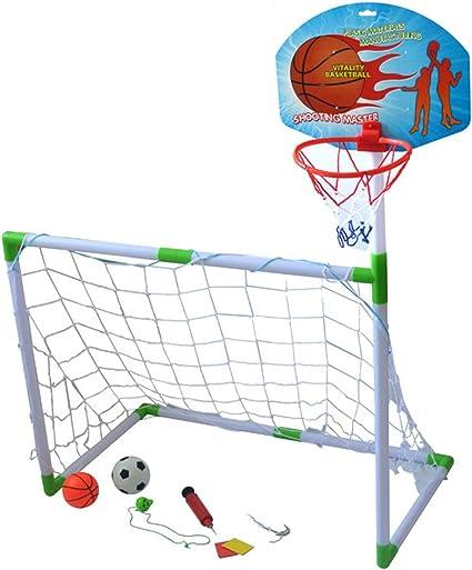 Balón De Fútbol Y Cancha De Baloncesto 2 En 1, con Baloncestos Y ...
