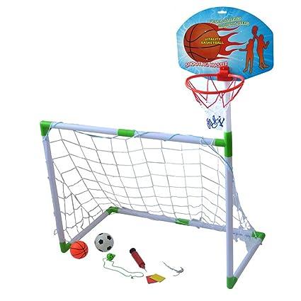 Amazon.com : Wgwioo Football And Basketball Goal 2 In 1 ...