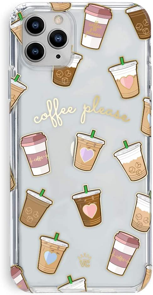 Velvet Caviar Compatible with iPhone 11 Pro Max Case Coffee Design for Girls, Women - Clear Cute Protective Phone Cases