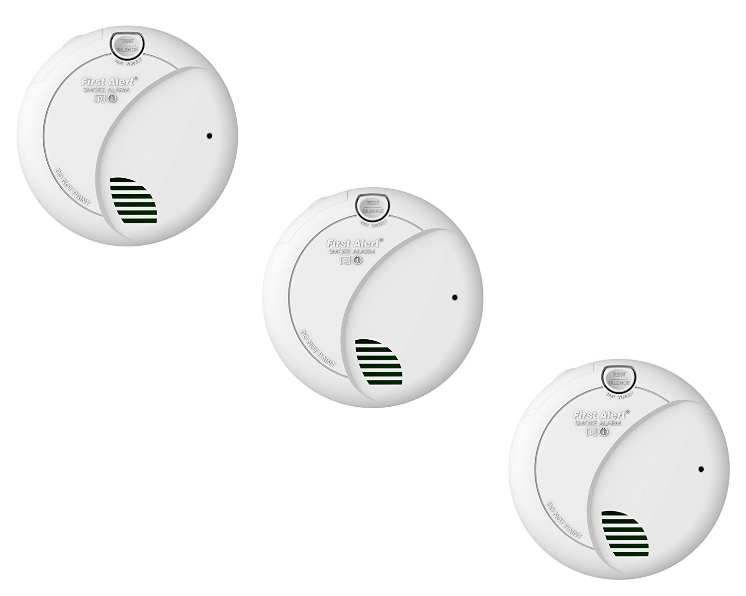 First Alert BRK 7010B Hardwire Smoke Alarm with Photoelectric Sensor and Battery Backup 3 Pack