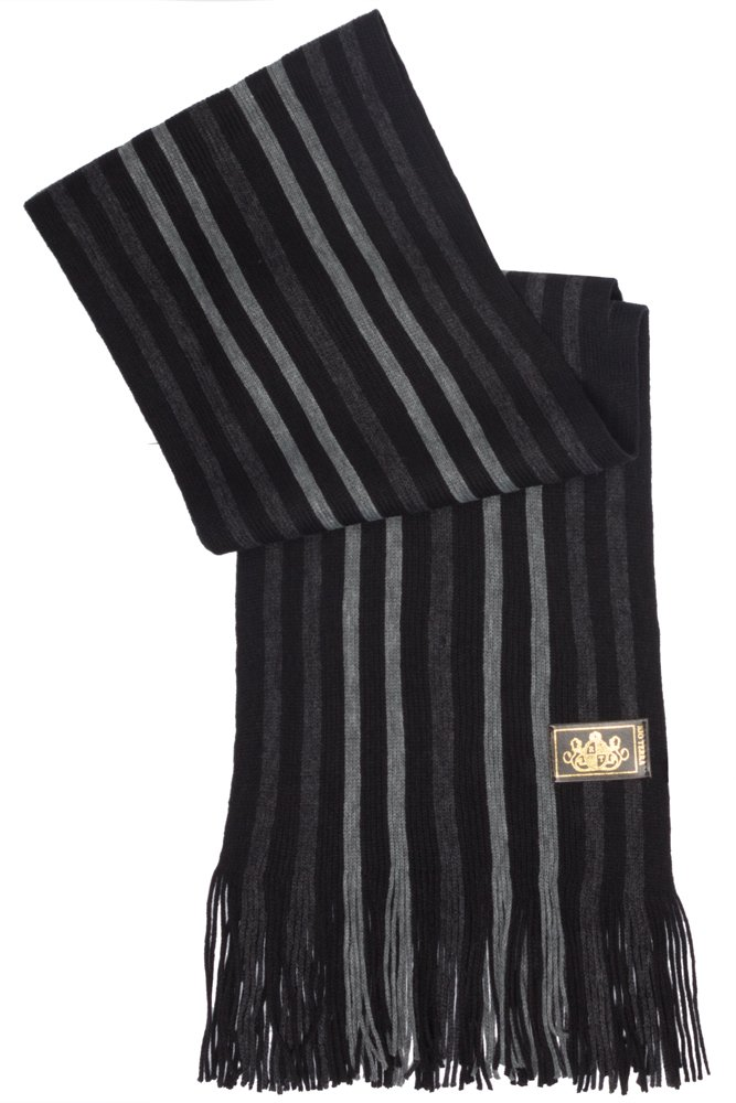 Rio Terra Men's Knitted Scarf, Designer Scarves for Winter Fall Fashion, Silver & Grey by Rio Terra (Image #3)
