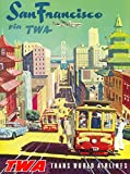 vintage advertisement - A SLICE IN TIME San Francisco California via TWA Trans World Airlines United States Vintage Travel Advertisement Art Collectible Wall Decor Poster Print. 10 x 13.5 inches