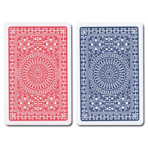 Modiano R/B Bridge Club Index (Regular) 100% Plastic Playing Card Set