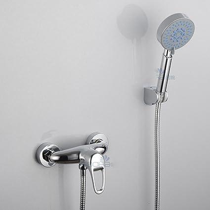 Grifos ducha,oculta baño ducha grifo ducha grifo cobre calentador solar de agua fría y