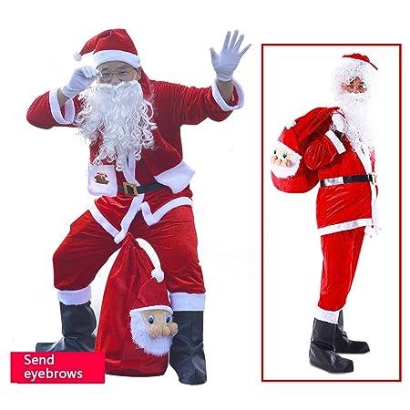 QIANC Disfraces De Papá Noel para Navidad Traje De Cosplay ...