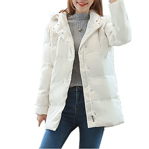 BOMOVO Mujer Algodón Grueso sudaderas con capucha con bolsillos talla grande