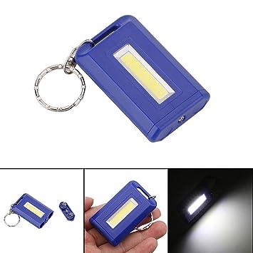 XXIAZHI,COB portátil Mini Llavero Linterna(Color:Azul ...