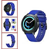Replacement Watch Band for Samsung Gear Sport, Silicone Watch Strap with Black Stainless Steel Buckle,20mm Width,8 Colors Available