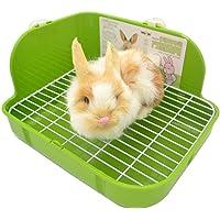 SunshineBio Rabbit Litter Box Toilet for Small Animal Bunny Rabbits Guinea Pig Galesaur Ferrets Corner Litter Pan Potty…