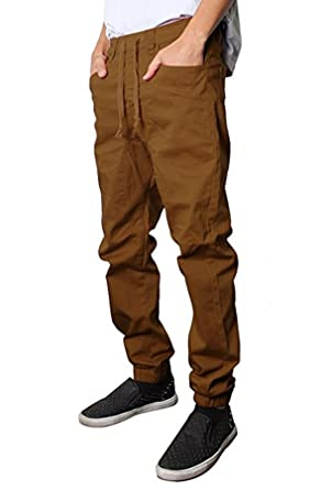 Victorious Mens Twill Jogger Pants (Dark Dark Wheat) at Amazon ...