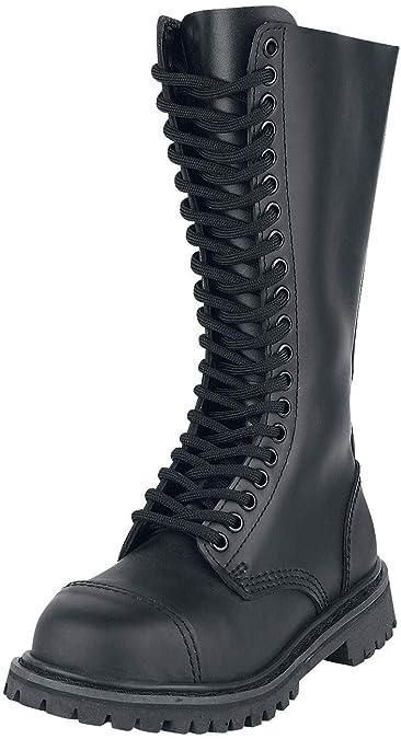 110cea6ae870ef Brandit Phantom Ranger Leder Stiefel Schuhe Schwarz (Stahlkappe ...