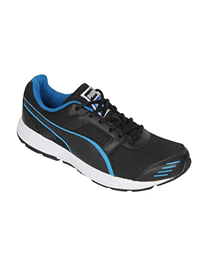 b0d69069ffc0 Puma Men s Black-Electric Blue Lemonade Running Shoes-11 UK India ...