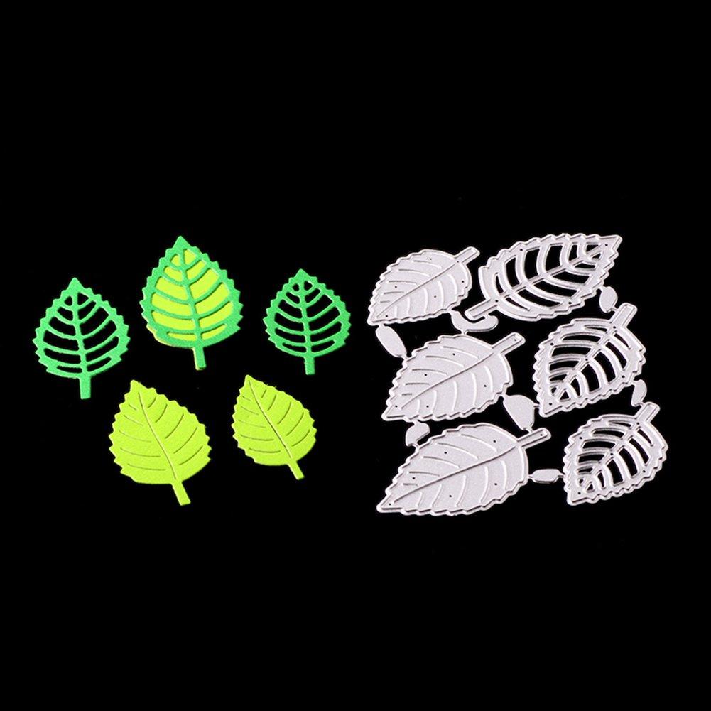 yanQxIzbiu Cutting die 1Set Leaf Cutting Die Stencil Scrapbook Album Embossing DIY Card Paper Decor Silver