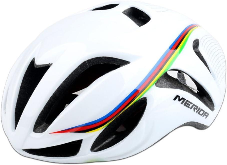 GTYW Bicicleta Carretera Neum/ática Versi/ón Rota Ciclismo Casco Hombres Y Mujeres Casco Casco De Bicicleta De Monta/ña,White-OneSize56-61cm