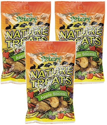 (3 Pack) Peters Apple Slices Small Animal Nature Treats, 1 Ounce Per Bag