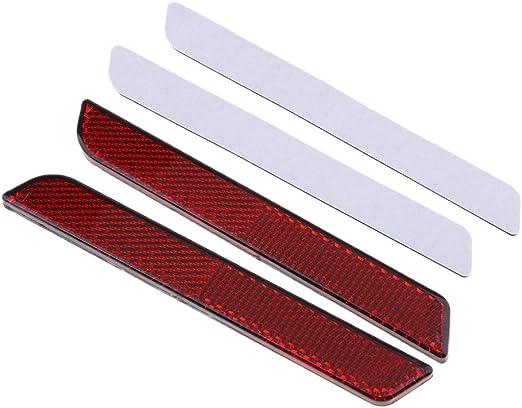 Perfk 2 Stück Roter Reflektor Motorräder Ersatzteile Verschlussdeckel Selbstklebend Rückstrahler Reflektoren Für Motorrad Auto