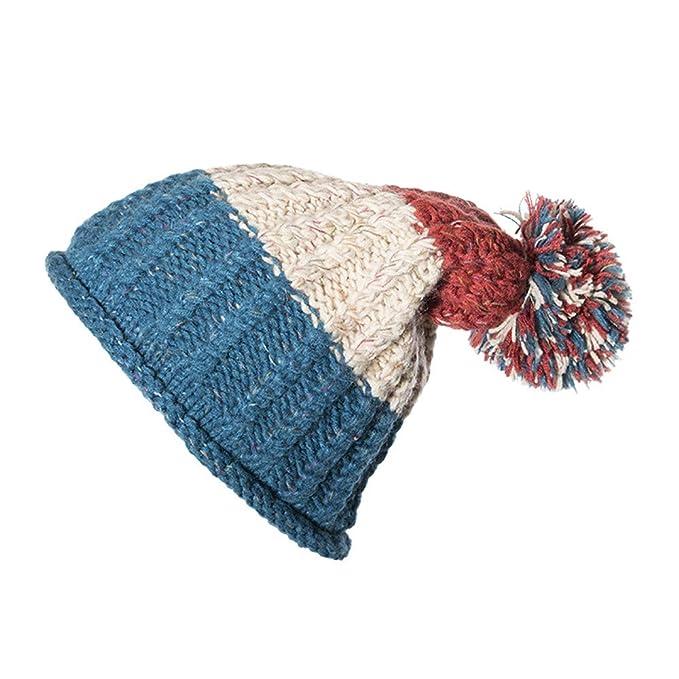 8ba8ef6f28ae4 LILICAT❋ Color de Costura , Gorro de Punto de Cable Bobble Liso para Mujer para  Hombre Beanie Warm Winter Pom Lana  Amazon.es  Ropa y accesorios