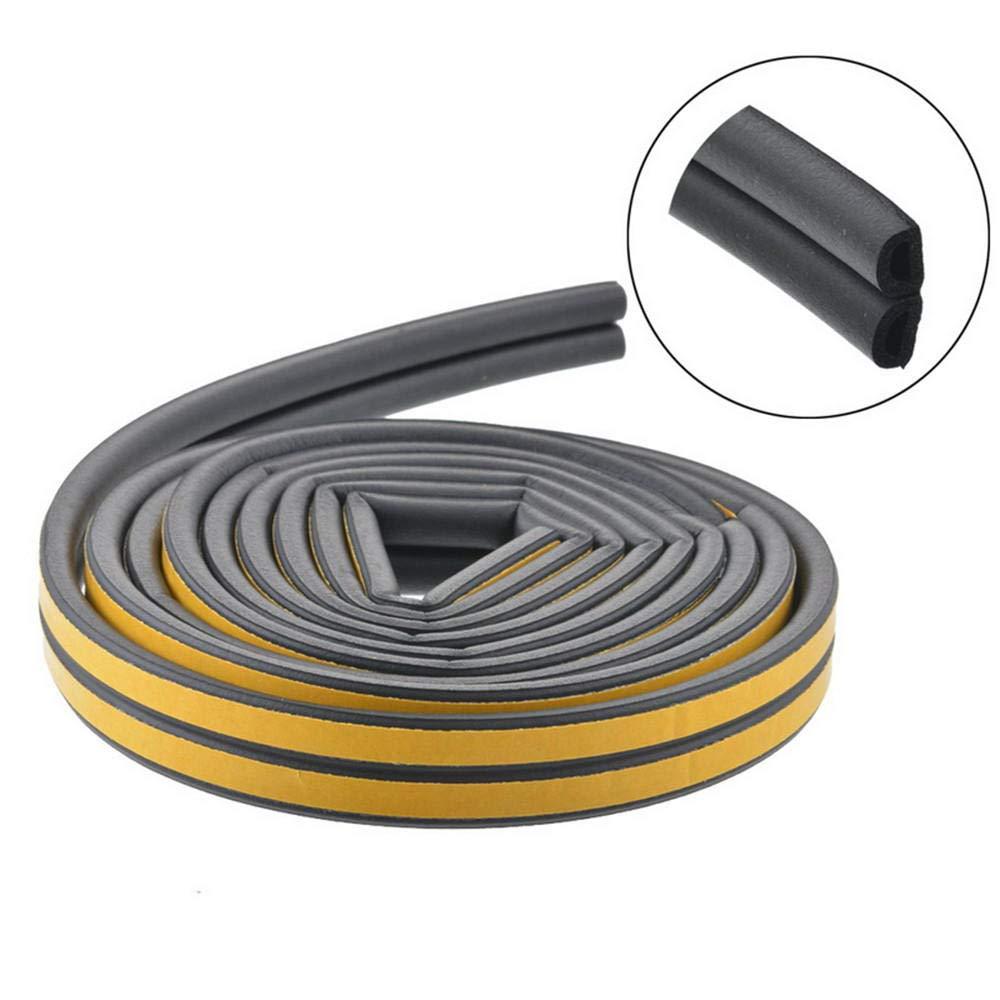 1Pc 5M D Type Sealing Strip Self Adhesive Seal Strips Foam Draught Excluder Self Adhesive Window Door Seal Strip Hardware Tools@Gary
