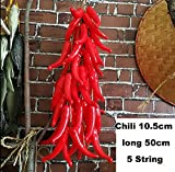 SHIHUALINE vegetables Simulation Artificial Ceiling Chili garden Decorative(5 string)