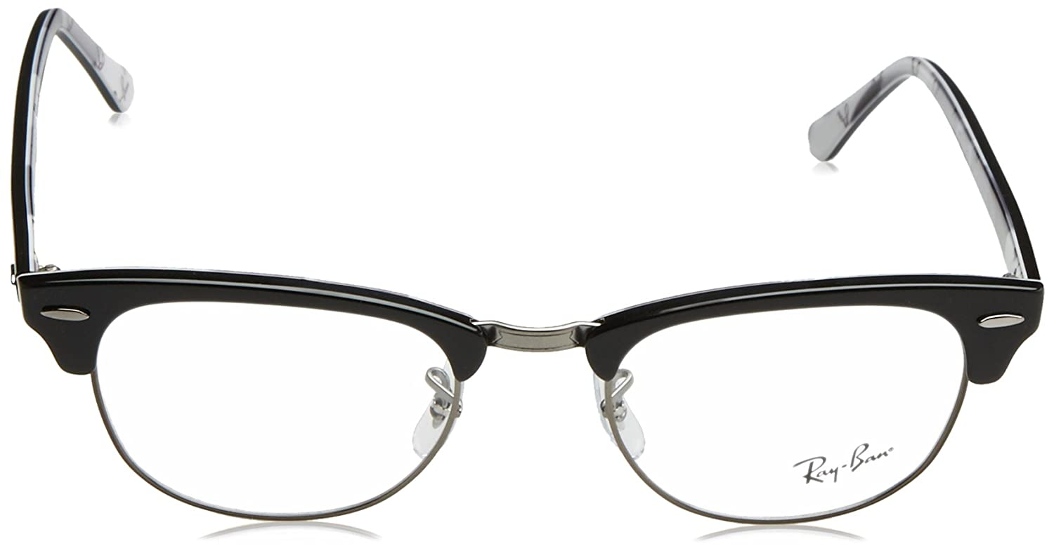 7f01be8c648 Amazon.com  Ray-Ban Unisex RX5154 Clubmaster Eyeglasses Black On Texture  Camuflage 49mm  Clothing