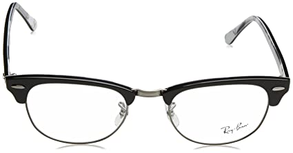 d4972611a2 Amazon.com  Ray-Ban Clubmaster No Polarization Square Prescription Eyewear  Frame
