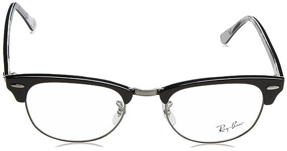16f26f77c96d1 Amazon.com  Ray-Ban Clubmaster No Polarization Square Prescription Eyewear  Frame