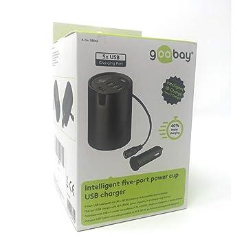 Goobay Cargador de Coche-USB para Portavasos para Apple ...