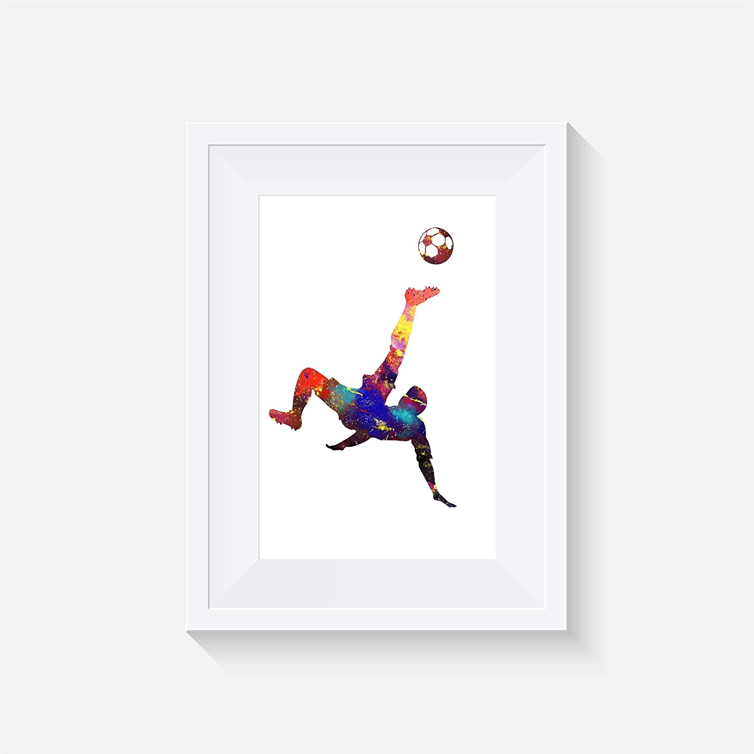 watercolour Wall art- various Sizes Frame Not Included Football Inspired- Print Poster