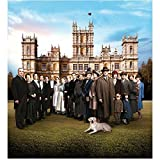 Downton Abbey Maggie Smith as Violet Crawley, Dowager Countess of Grantham with Cast with Dog 8 x 10 Inch Photo